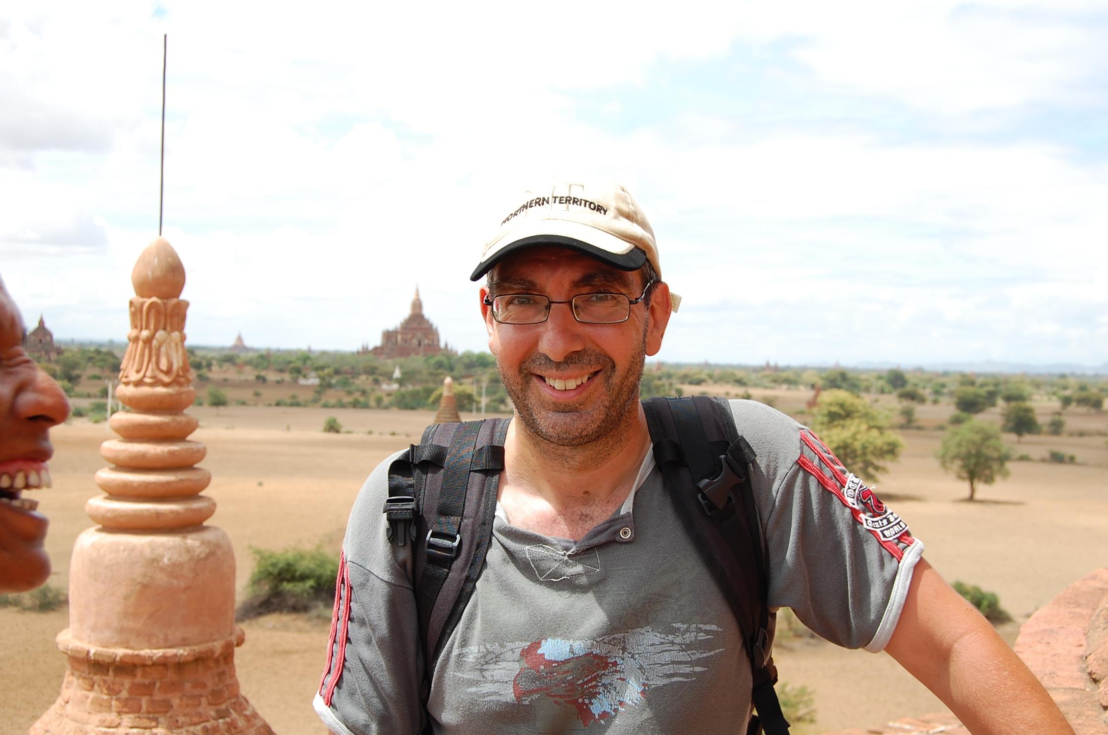 moi  à Bagan (Birmanie)
